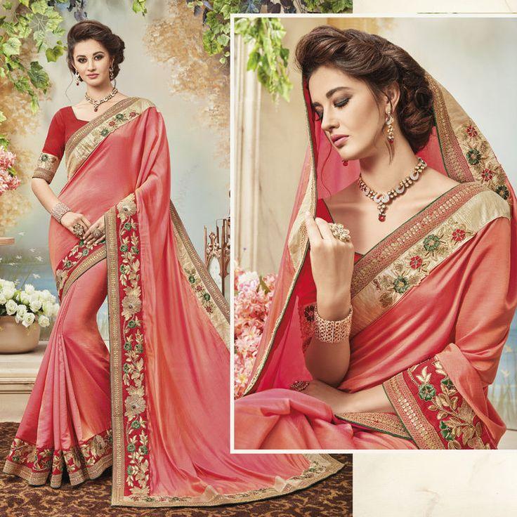 Designer Bollywood saree Indian Ethnic Sarees Party Wear Wedding Sari Blouse #Handmade #SareeBlouse