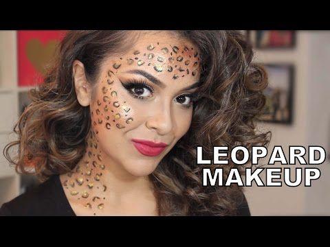 7889a04ccfec Sexy Leopard/Cheetah Halloween Makeup Tutorial - YouTube | Halloween ideas  | Leopard makeup, Cat halloween makeup, Halloween makeup