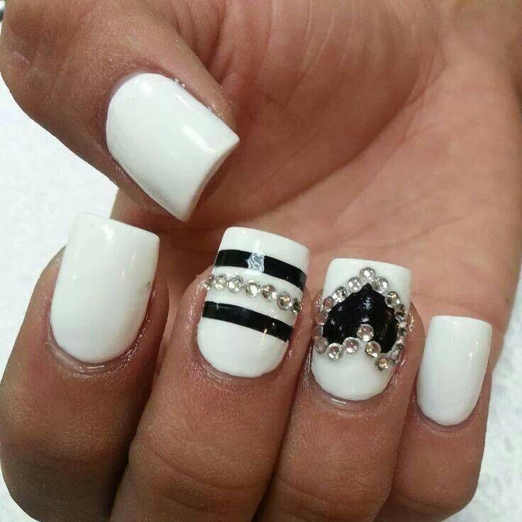 paznokcie czarno białe - Szukaj w Google