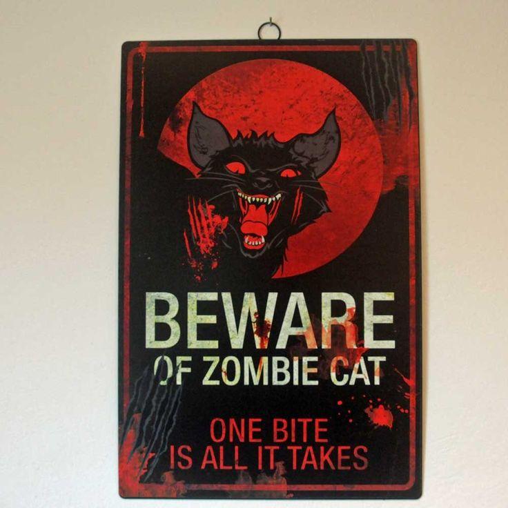 Briefträger haben Respekt vor Hunden. Aber Katzen .... und dann auch noch Zombiekatzen. Da ist der Hausbesitzer verpflichtet, eine Warnung aufzuhängen.