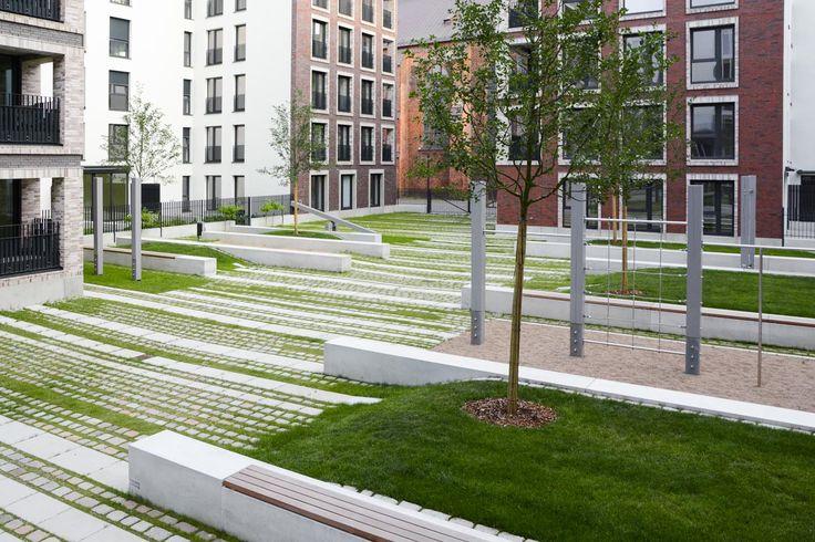 Quartier an St. Katharinen, Hamburg, Germany by Breimann & Bruun Landscape Architects