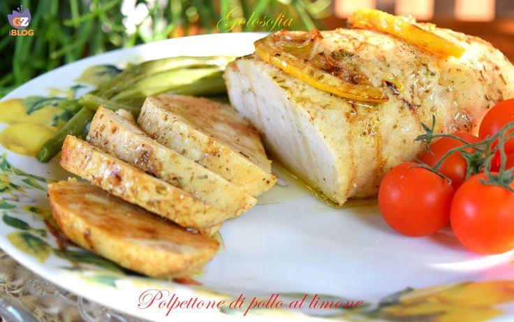Polpettone di pollo al limone-ricetta buonissima leggera