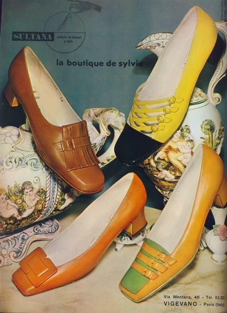 Shoe ad, 1960s.