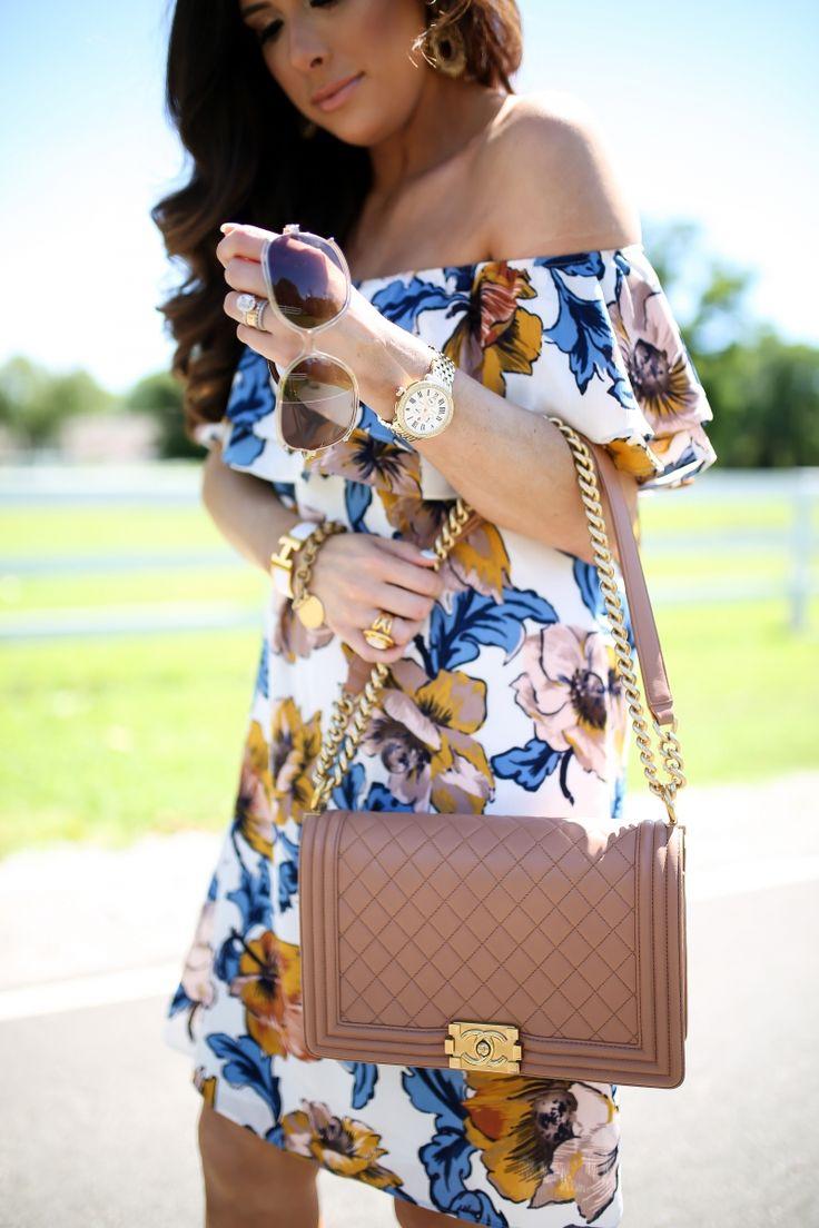 Pinterest summer fashion 2017, nordstrom dresses, chanel boy bag medium tan, emily gemma, the sweetest thing blog
