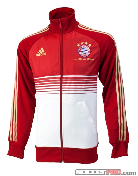 adidas bayern munich anthem jacket university red with. Black Bedroom Furniture Sets. Home Design Ideas