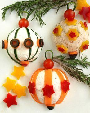 Spettacolari palle di Natale...di cibo!