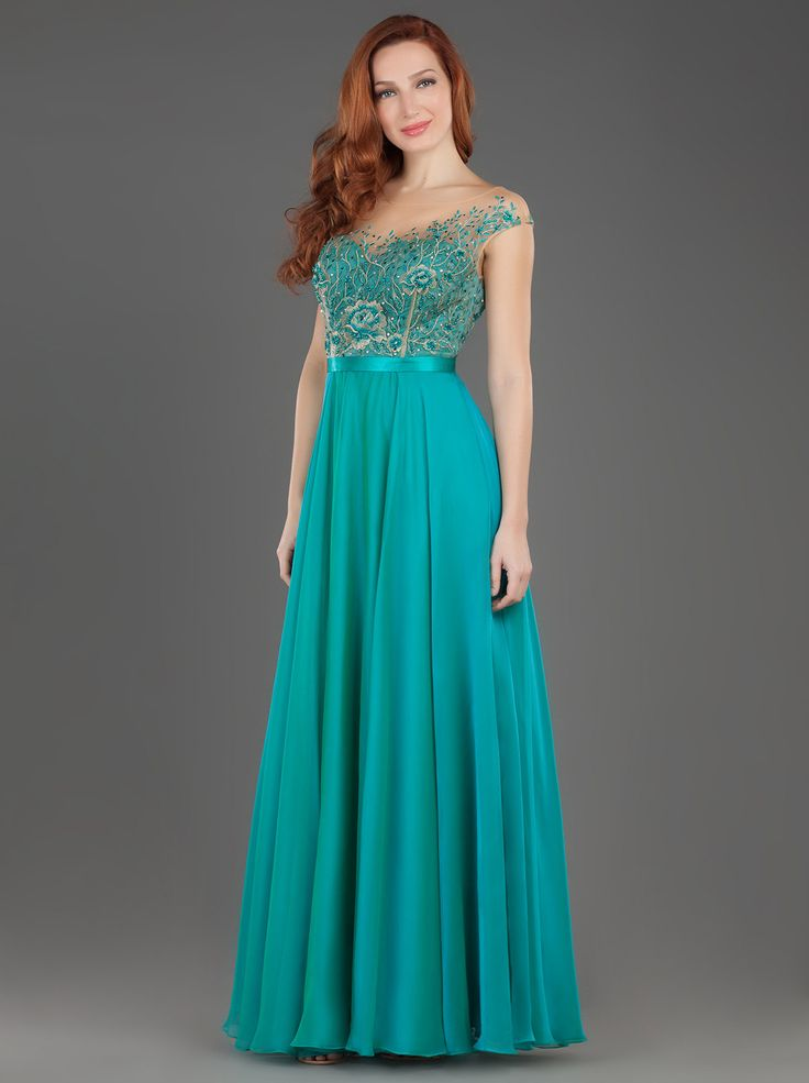Long Evening Dress with Lace and Beading on the Bust!! http://www.mikael.gr/en/new-collection/55113.html