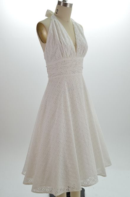 white halter sundress....My reception dress!