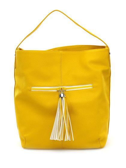 LIU.JO - Borse - Accessori - Borsa in eco pelle  con chiusura a bottone magnetico e tasca a zip sul davanti. Misure 40 x 36 cm. - YELLOW - € 135.00
