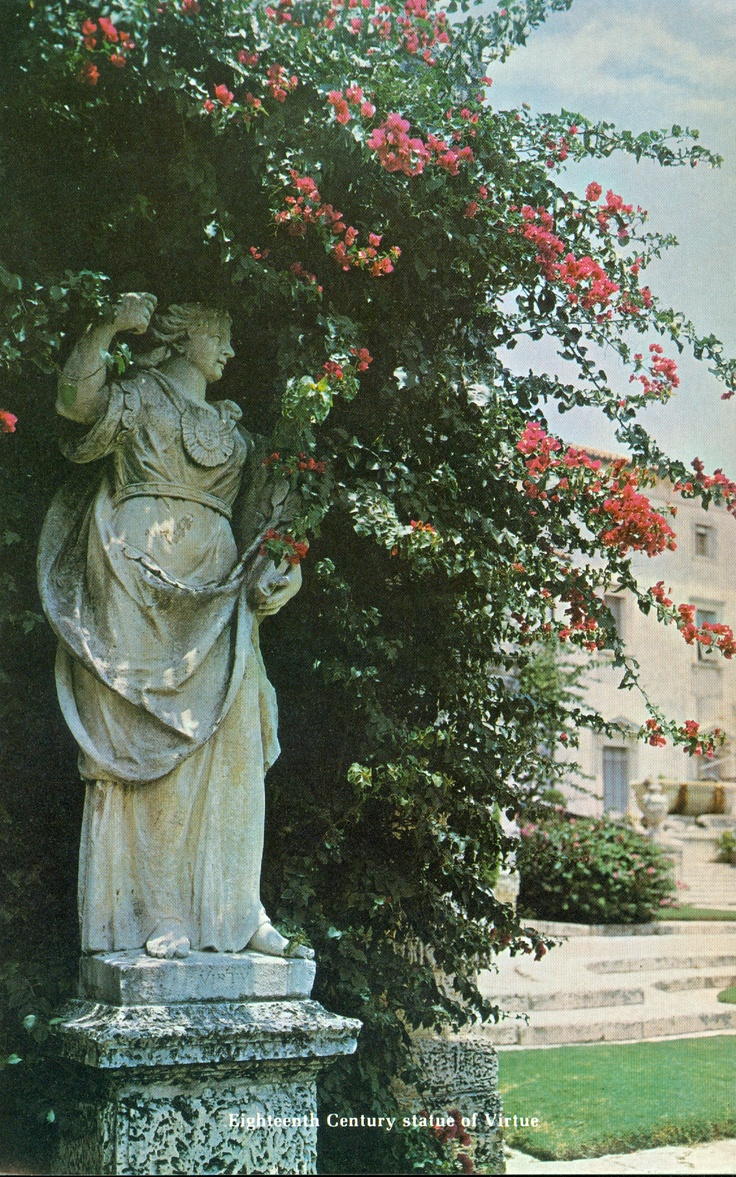 Statue Of Virtue In The Garden.