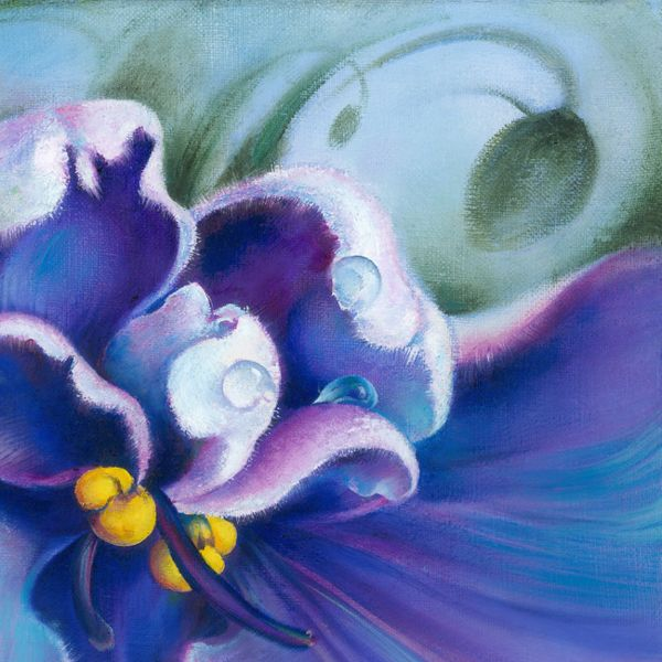 "OIL PAINTING ""The Violet""(fragm) on Behance by Anna Miarczynska"