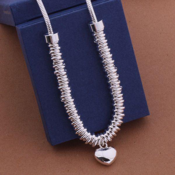 Купить товарAn471 бесплатная доставка! 925 стерлингового серебра ожерелье, мода кулон цепи ожерелье, шарм ожерелье / fphsku dchbqp в категории Подвескина AliExpress.       Длина: 18 дюйм(ов)  Вес: 61 г