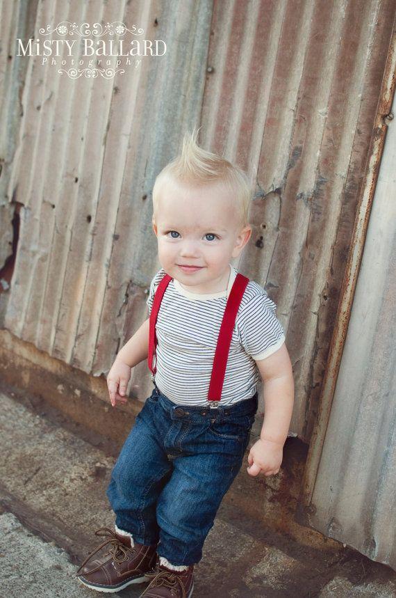 Boys Red Valentines Day Suspenders..baby boy by LittleBoySwag