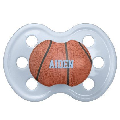 Basketball Baby Boy Pacifier - blue gifts style giftidea diy cyo