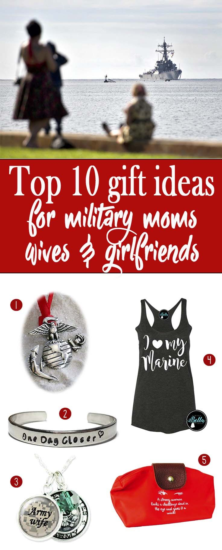 Top 10 gift ideas for military moms, wives, and girlfriends whose loved ones are deployed during Christmas.  deployment gifts for her