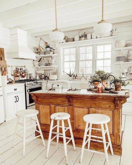 Farmhouse Kitchen Makeover By Herpartypants Com Farmhouse Lights Nuetral Kitchen