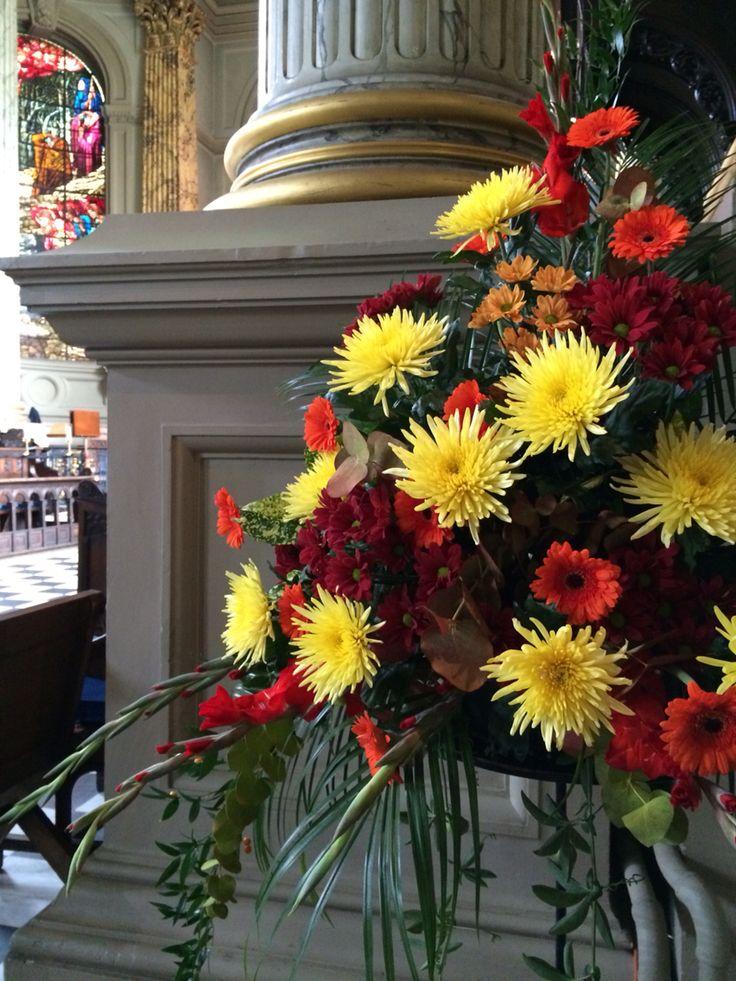 Best images about church flowers pedestal arrangements