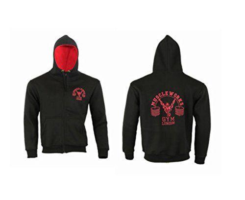 Muscle Works Gym Mens Muscle Contrast Tri-Blend Hoodie Black sweatshirt, sweater, hoodie MMA Gym Wear