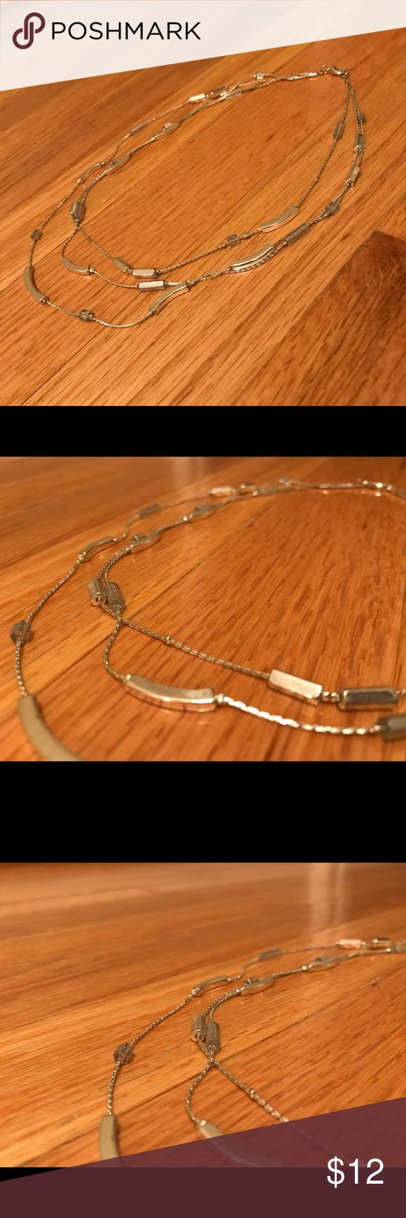 Limited silver multi thread necklace From smoke free home. In excellent condition. Approximately 8 inches in length. The Limited Jewelry Necklaces