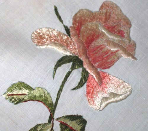 society embroidered roses