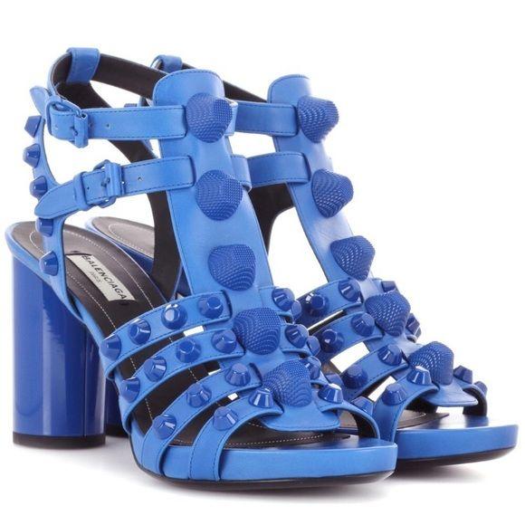 Balenciaga studded gladiator sandals blue Brand new in box
