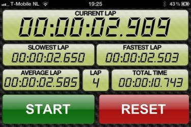 Racing Lap Timer HD is an iPad & iPhone Stopwatch application for lap time measurement.