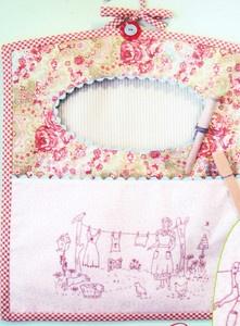 Monday is Washing Day - pretty vintage style stitchery peg bag PATTERN | eBay