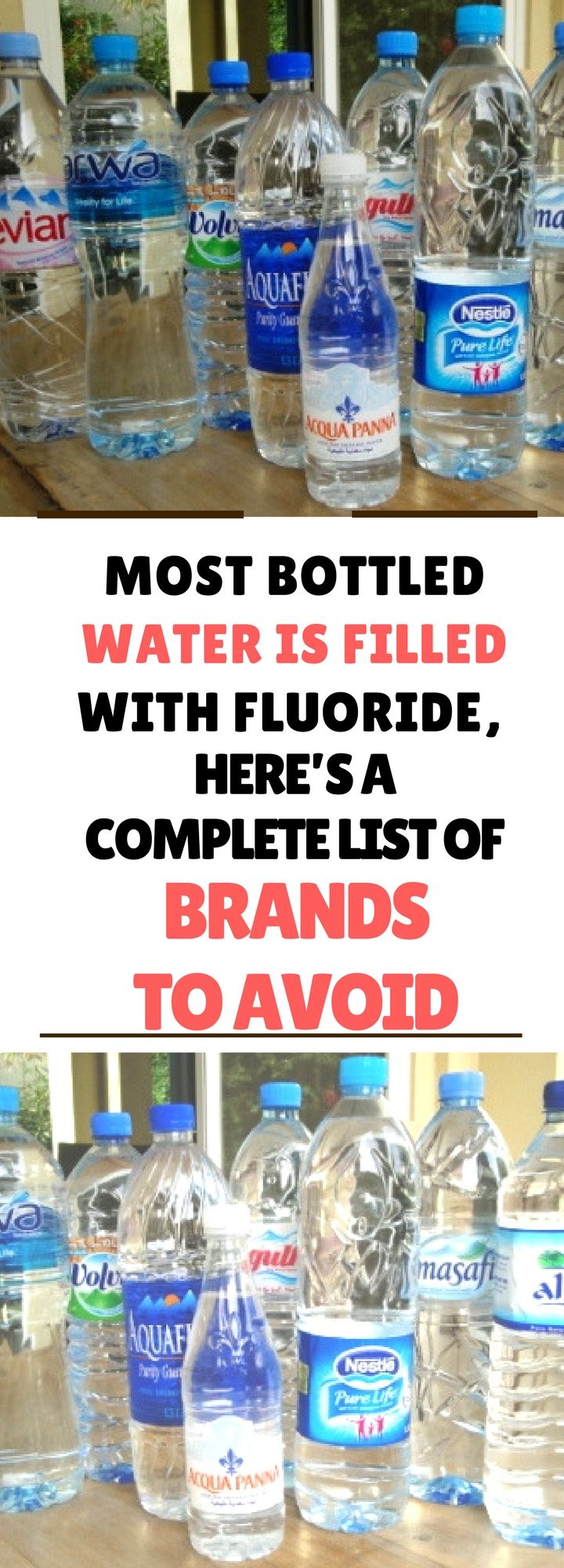Most Bottled Water is Filled With Fluoride, Here's a Complete List of Brands to Avoidd. Need to know.!. Read this.