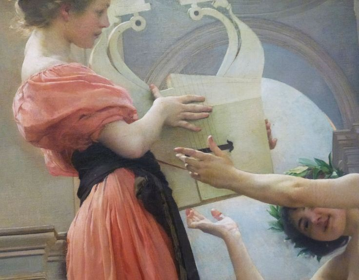Vojtěch Hynais - Allegory of Inspiration - detail of mural in n\ational Thetre (1899) #painting #art #Czechia