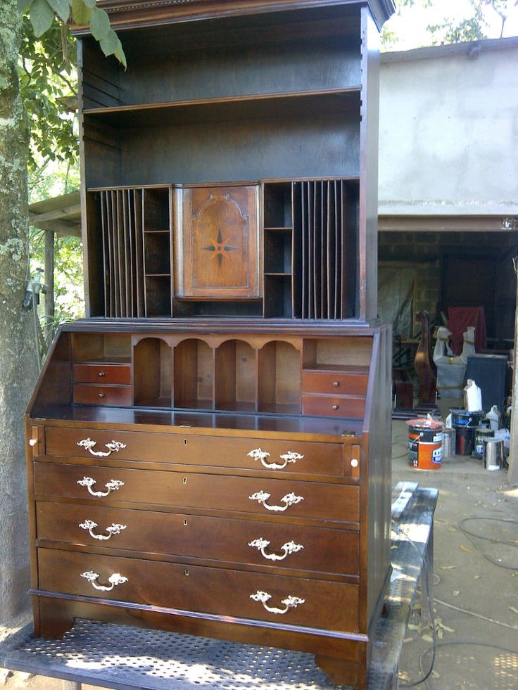 Beautiful drop-front secretaire restored to its former glory!