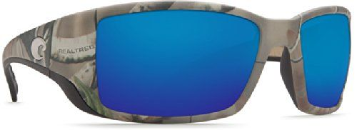 Costa Del Mar Blackfin Sunglasses, Realtree Xtra Camo, Blue Mirror 580 Glass Lens