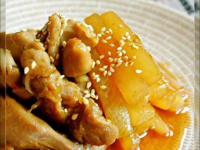 鶏肉と大根の中華炒め煮の画像