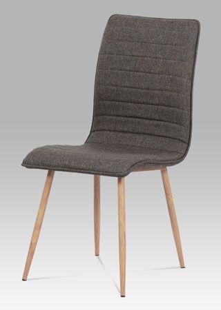 HC-368 COF2  Velmi populární a oblíbené židle budou ozdobou každého interiéru. Nohy jsou kovové v dekoru dubu, sedák s opěrákem čalouněný látkou. Nosnost do 100 kg.