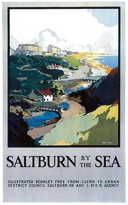 Saltburn-by-the-Sea, North Yorkshire Railway Poster