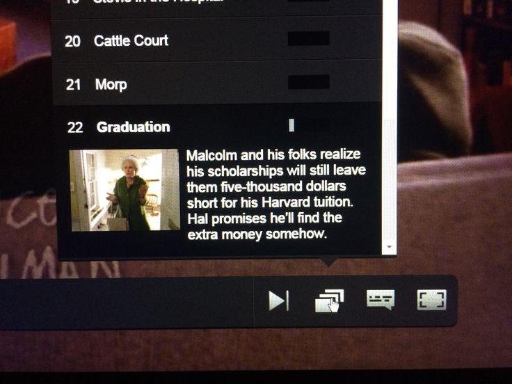 Hey Netflix employee who wrote the description of the last episode of 'Malcom in the Middle' I see what you did there.