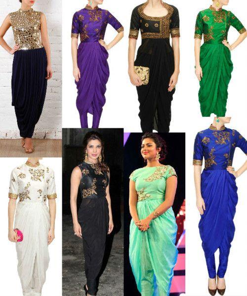 Drape Kurtas / Dhoti Style Kurtas – A Must Try Fashion Statement