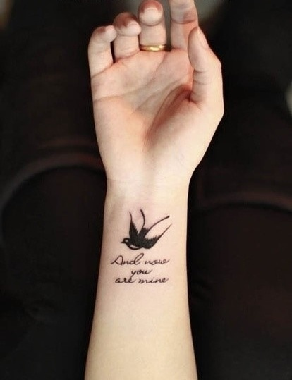 Small Dad Tattoo: Small Sparrow Tattoo For My Dad... One Day.