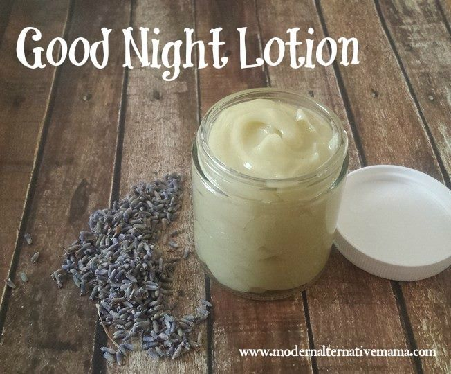 """Make a simple """"good night"""" lotion to help your kids -- or yourself! -- sleep better!  Great source of magnesium!"""