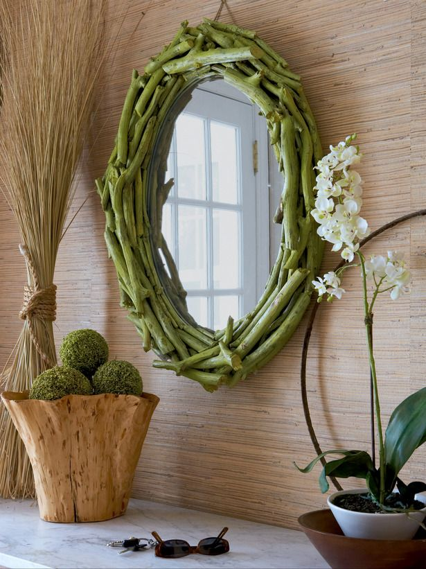 DIY Twig mirror..use tree limbs from current home before moving to new home?