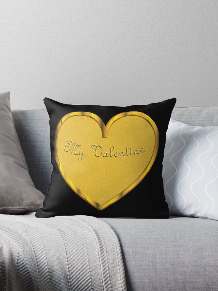 My Valentine, heart in gold look • Also buy this artwork on home decor, apparel, stickers, and more.