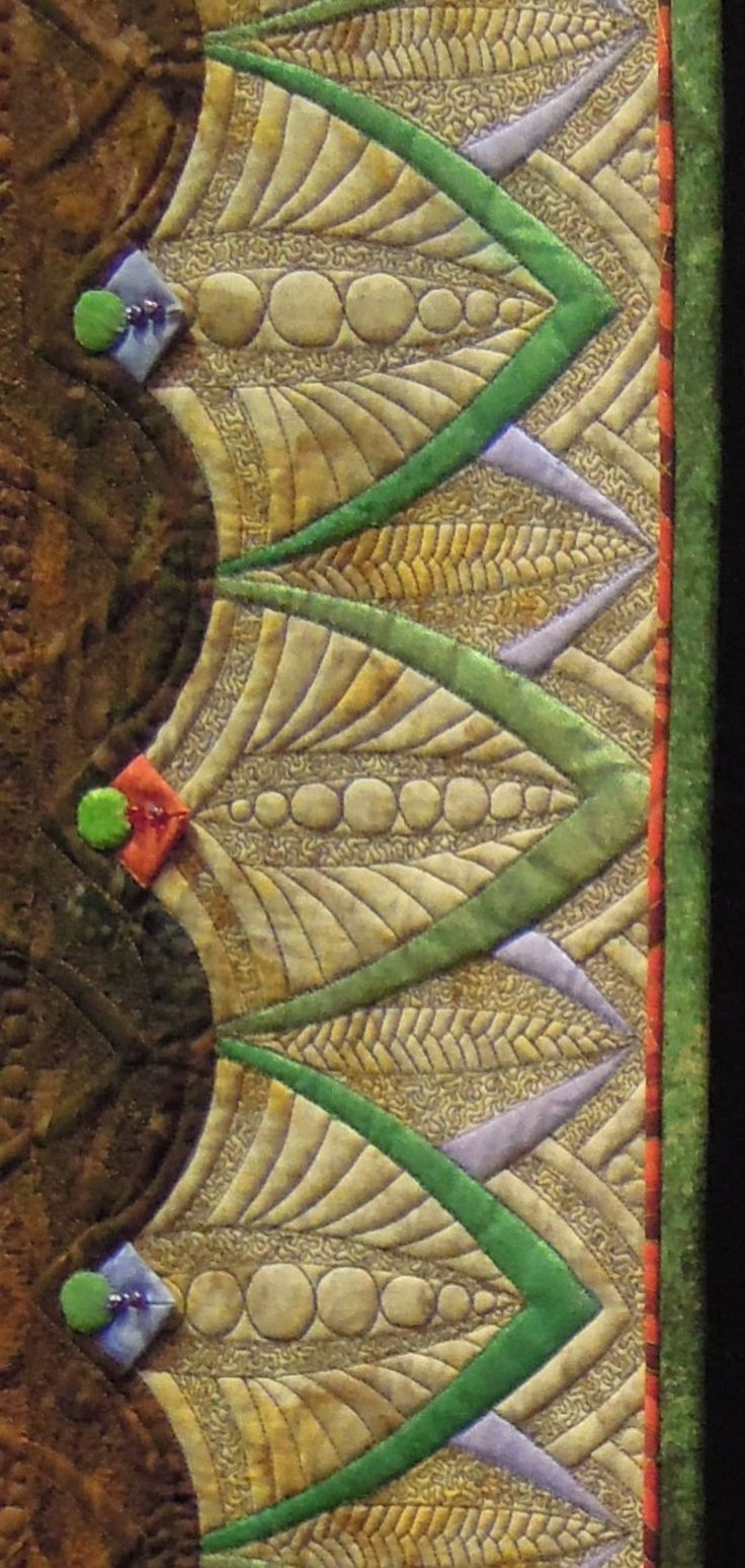 Border detail, Exuberance by Marilyn Badger, photo by Quilt Inspiration