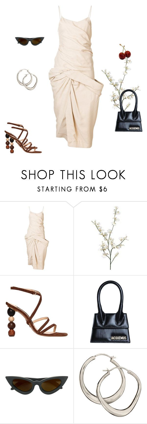 """""""Jacquemus"""" by eleonorepl ❤ liked on Polyvore featuring Jacquemus, Pier 1 Imports, Kuboraum and Dinny Hall"""