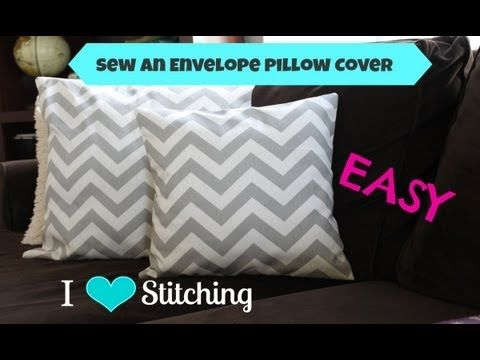 how to sew an envelope pillow case cover very easy. Black Bedroom Furniture Sets. Home Design Ideas
