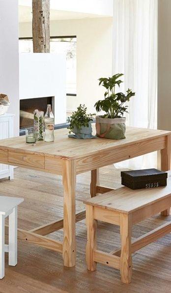 Nature & Déco | Style & Intérieurs Envie de cette table +banc