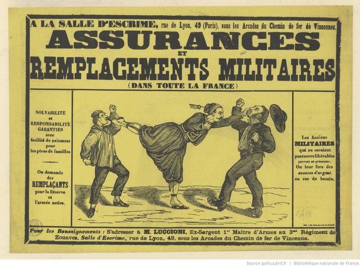 A la salle d'escrime ... : Assurances et remplacements militaires (dans toute la France)... On demande des remplaçants pour les pères…