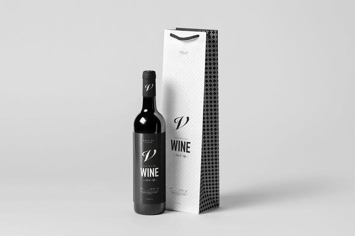 Download Wine Bag Bottle Mock Up By Yogurt86 On Envato Elements Wine Bag Bottle Mockup Bottle Bag