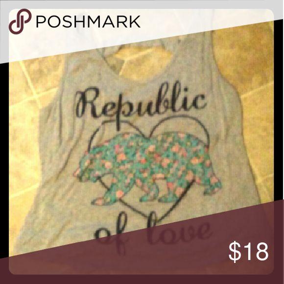 Rue 21 California republic of love loose tank Like new, fits like a lose small. Super Comfy Material. Rue 21 Tops Tank Tops