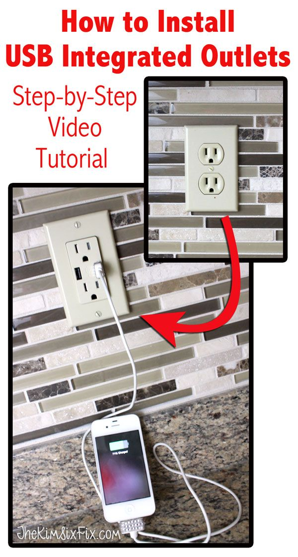How to replace standard wall outlets with USB charging outlets. A step by step video tutorial.  A great way to charge USB devices without giving up an outlet.