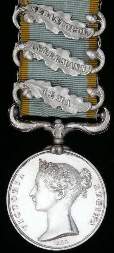 The Crimea War Medal 1854 1856 - Medals Great picture of medal my Great Great Grandfather John Brodie was awarded but also Balaklava Clasp