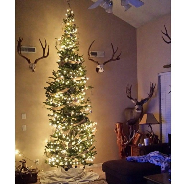 Christmas Tree Made Of Deer Antlers: 10 Best Images About Custom Antler Lamps On Pinterest